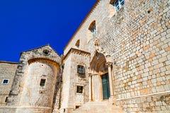 杜布罗夫尼克,克罗地亚-多米尼加共和国的修道院 库存图片