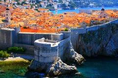 杜布罗夫尼克,著名旅游目的地在克罗地亚 免版税库存照片