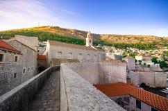 杜布罗夫尼克,达尔马提亚,克罗地亚老镇  免版税图库摄影