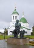 杜思妥也夫斯基的纪念碑 Tobolsk,俄罗斯 免版税库存图片