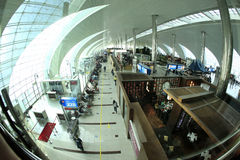 杜拜机场 免版税库存图片