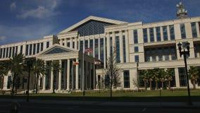 杜瓦尔县法院大楼定期流逝在杰克逊维尔,佛罗里达 股票录像