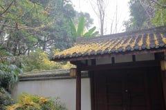 杜甫的中国风格门盖了村庄公园,多孔黏土rgb 免版税库存图片