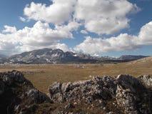 杜米托尔国家公园山在秋天 库存照片