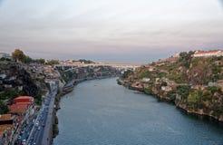 杜罗河河和波尔图 库存图片