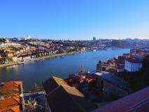 杜罗河河在波尔图 免版税库存图片