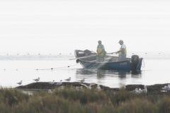 杜罗河河渔夫 免版税库存照片