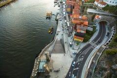 杜罗河河顶视图在波尔图的中心 图库摄影