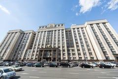 杜马的大厦在Okhotny Ryad的 免版税库存照片
