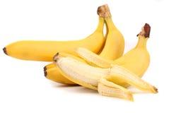 束与开放一个的香蕉。 免版税图库摄影