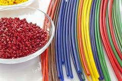 束五颜六色的塑料管 库存图片