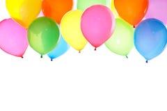 束五颜六色的气球背景 免版税库存图片