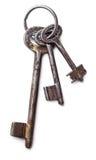 束古色古香的钥匙 库存图片