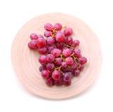 束在牌照红色白色的葡萄图象 图库摄影