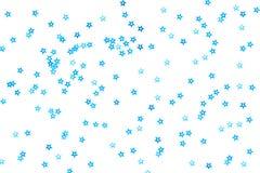束在白色背景的蓝星 免版税库存照片