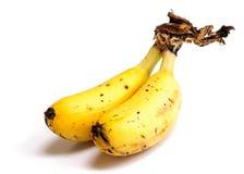 束在白色背景的婴孩香蕉 免版税库存照片
