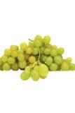 束成熟和水多的绿色葡萄 库存图片