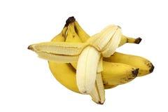 束未加工的成熟香蕉 图库摄影