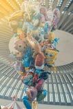 束氦气气球 库存图片