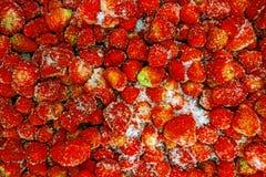 束用冷冻草莓 免版税库存图片