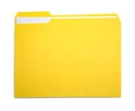 结束的文件黄色 免版税库存照片