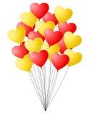 束红色和黄色气球 向量例证