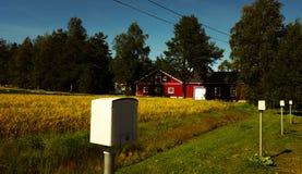 结束红色房子 免版税图库摄影