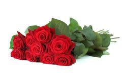 束红色玫瑰 免版税库存照片
