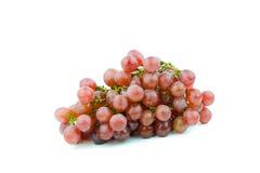 束红葡萄,新鲜用水下降 查出在白色 库存照片