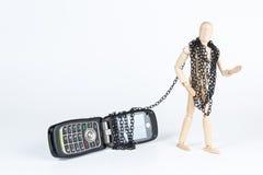 束缚对电话 库存照片