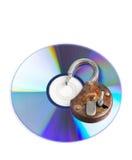 束缚被包裹的概念常规复制数据设计设备hdd被锁定的挂锁权利被巩固的安全空间 免版税库存照片