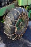 束缚防滑轮胎 库存图片