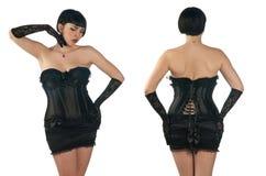 束腰佩带的妇女 免版税库存照片