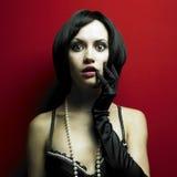 束腰壮观的妇女年轻人 免版税图库摄影