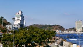 束草市沿海岸区  30更改的卫兵7月韩国国王好朋友s汉城南部 免版税库存照片