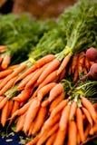 束起新鲜的红萝卜 免版税库存图片