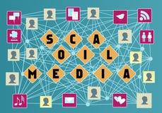 束起通信有概念的交谈媒体人社交 图库摄影