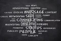 束起通信有概念的交谈媒体人社交 免版税图库摄影