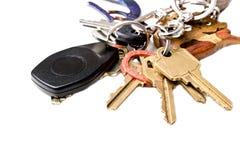 束链房子关键字锁上办公室 库存图片