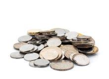 束马来西亚硬币,浅DOF 库存照片