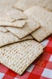束matzoth,犹太传统食物 免版税库存照片