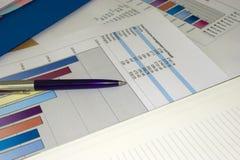 条形图笔 免版税库存照片
