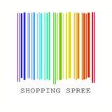条形码上色彩虹 向量例证