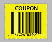 条形码唯一赠券的例证 免版税库存照片