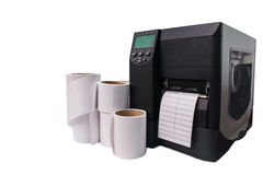 条形码打印机 库存图片