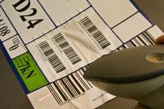 条形码扫描程序 免版税库存照片