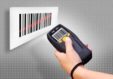 条形码扫描程序 库存图片