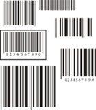 条形码收集 免版税库存图片