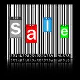 条形码标签销售额 免版税库存照片