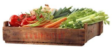 条板箱健康蔬菜 免版税库存照片